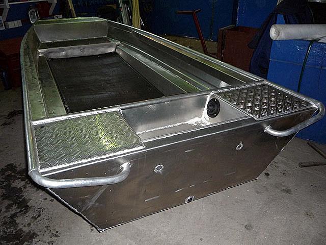 Алюминиевая лодка плоскодонка своими руками 74